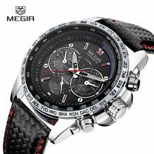 MEGIR Men's Stainless Steel Analog Waterproof Sports Quartz Military Wrist Watch