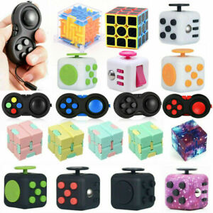 UK Figit Fidget Cube UK Fiddle Toys Figet Dice Stress Cubes Adult Kids Gadget