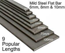 Mild Steel FLAT BAR 6mm 8mm & 10mm UK Trade Metal Supplier Band Saw Cut Lengths