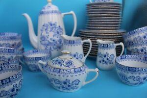 Seltmann Weiden China Blau Geschirr Service PORZELLAN Retro Vintage