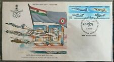 India 1992 Indian Air Force Flag Aviation Military  setenant stamped FDC