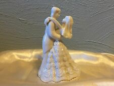 """NEW IVORY PORCELAIN CERAMIC FIRST DANCE BRIDE AND GROOM FIGURINE 5"""""""