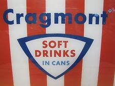 Old Cragmont Soft Drinks in Cans Sign soda machine plexi insert advertising
