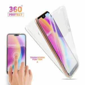 360° Full Double-sided Protection Shockproof Soft Clear Back Phone Case Cover