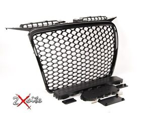 AUDI A3 8P RS STYLE 2005-2008 GLOSS BLACK HONEYCOMB DEBADGED MESH SPORTS GRILL