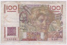 BILLET 100 FRANCS JEUNE PAYSAN C 29 4 1948 C 13055 R 247