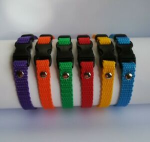 6 Collars. Puppy Whelping ID Collar identification