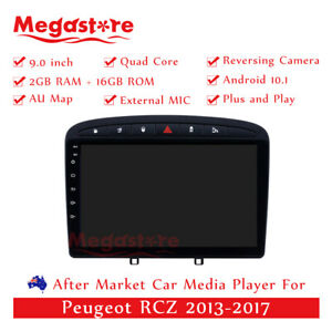 """9"""" Android 10.1 Quad Core Car non dvd Media Player GPS For Peugeot RCZ 2013-2017"""