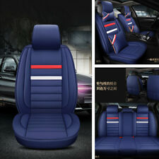 Luxury Edition Car 5-Seats Cover Set Comfortable Cushion Protector Blue Color