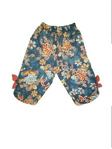 NEW OILILY GIRLS FLORAL COTTON PANTS 92 2T
