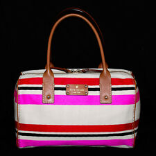 KATE SPADE WKRU1644 Kaleigh Oak Island Multicolor Stripe Satchel & Storage Bag