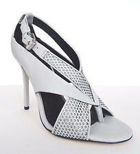 L.A.M.B. Beverlee Dress Pump Shoes High Heel Sandals Sz 8.5 M Gray Black $275