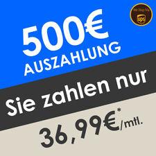 Auszahlung mit Handyvertrag | 500€ Prämie Bargeld für Sie | Nur 36,99€ mtl.*