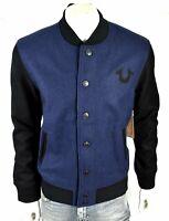 True Religion Brand Jeans Men's Block Stack Wool Varsity Jacket - 101698
