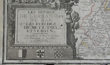 CARTE DES DUCHES DE LORRAINE, DE BAR, LES EVECHES DE MATZ, TOUL, VERDUN, 1708