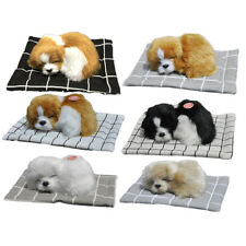 Cute Sleeping Dog Puppy Plush Doll Toys w/ Sound Stuffed Baby Kids Toddler Gift