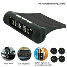 Car Solar Wireless TPMS Tyre Tire Pressure Monitor +4 External Sensors Universal