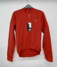 Rapha Men's Red Long Sleeve Back Pockets Cycling Core Jersey Size S