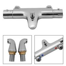 New Modern Thermostatic Bath Shower Mixer Taps Deck Mounted Chrome Valve Bar Tap