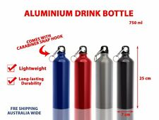 750ml Sports Drink Bottle Travel Water Cup Aluminium Bottle Portable Bike Kettle Red