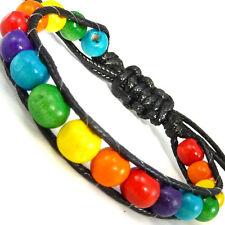 Colourful Rainbow Multi Gay Pride Wristband Bracelet Festival friendship WB38
