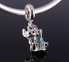 Authentic Pandora Disney Parks Stitch & Cinderella Castle Silver Charm s925 ALE
