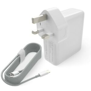 61W Apple MacBook Pro compatible power adapter USB-C charger with Fused Plug.