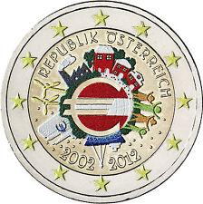 Österreich 2 Euro Gedenkmünze 2012 bfr. 10 Jahre Euro Bargeld in Farbe