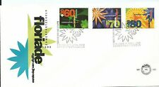 1992 FDC  Flowers 3 values  FDI 7th April 1992 on Unaddressed FDC