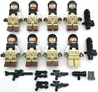 LEGO 8 NEW SWAT TEAM POLICE MINIFIGURES OFFICERS OF THE LAW WITH WEAPONS ARMOR