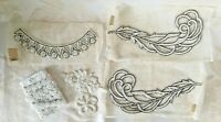 Lot Vintage Antique Hand Sewn Seed Bead Beaded Appliques - Wedding Crafts Sewing