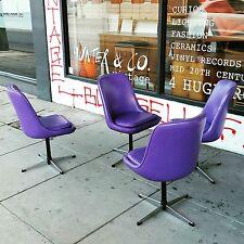 Vintage Vinyl dining chairs purple retro mid century mcm funky fun
