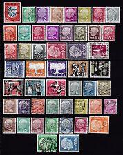 Gestempelte Deutsche Briefmarken des Saarland (1947-1959) aus Posten & Lots und Danzig, Memel, Saar