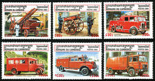 Cambodia 2059-2064, MNH. Fire and Resque Equipment. Trucks, 2001