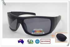 Mens Sports Sunglasses Running Cycling Wrap Around Polarised Wide Free Hard Case