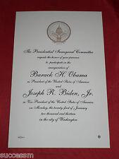 2013 Obama Official Commemorative Inaugural Invitation! Sealed Envelope!