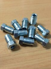"BRAKE PIPE TUBE NUTS 10 X 1MM THREAD TO SUIT 3/16"" BRAKE PIPE - 10 PACK METRIC"