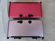 Nintendo 3DS Schutzhülle Alu Case Hardcover Aluminium, Rosa oder Schwarz.