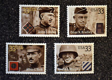 2000USA  #3393-3396  33c Distinguished Soldiers  Set of 4 Singles - Mint  NH