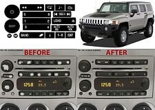 Radio Button Repair Sticker Decals For 2006-2009 Hummer H3 New Free Shipping USA