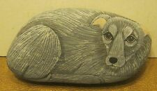 Wonderful Hand Painted DOG ROCK by SANDRA ROWE #6012 Dated 1997!! EXCELLENT!!