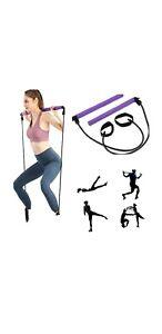 NEW! Portable Pilates Studio. Bar Kit w resistance band yoga pilates, toning bar