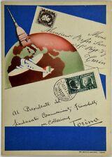 Cartolina Aviazione - Torino Colleziona Filatelia - Non Viaggiata