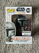 Funko POP! Chrome The Mandalorian Amazon Exclusive Star Wars #345 In Hand New