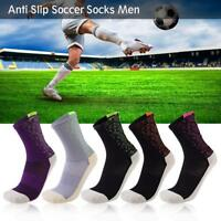 Anti Slip Mid-calf Cotton Training Running Socks Men Sports Football Team Socks