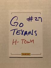 """2014 Panini D'onta Foreman Signed AUTO """" Go Texans """" 1/1 Sketch Card Rookie RC"""