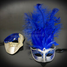 Couples Masquerade Mask, Royal Blue Masquerade Ball Mask Couple M2631, M6151