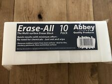 10 x Abbey White Erase All Stain Multi Surface Removing Sponge