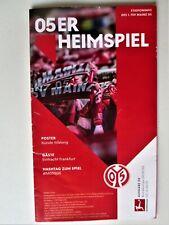 Mainz 05-Eintracht Frankfurt Programm