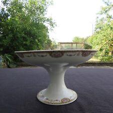 compotier coupe en porcelaine raynaud  limoges décor de guirlande de roses